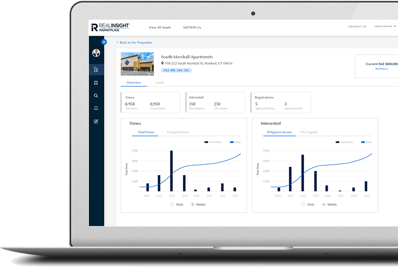RealINSIGHT Marketplace Seller Dashboard